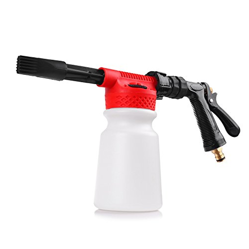 Wash Foam Gun Sunsbell Car Washing Foamaster 900ml Adjustable Gun Water Soap Shampoo Sprayer for Garden & Vehicles