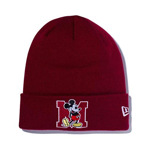 (ニューエラ) NEW ERA ディズニー コラボ ニット帽 カフ MICKEY MOUSE バーガンディー DISNEY FREE