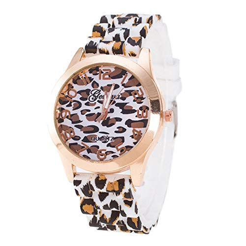 - Unisex Watches for Men Women DYTA Fashion Watches Clearance Wrist Watches on Sale Rubber Watch Strap Geneva Leopard Silicone Jelly Gel Analog Quartz Watchs Birthday Gifts for Women