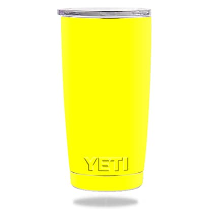 fd2659c247b MightySkins Skin for Yeti 20 oz Tumbler - Solid Yellow | Protective,  Durable, and Unique Vinyl Decal wrap Cover | Easy to Apply, Remove, and  Change ...