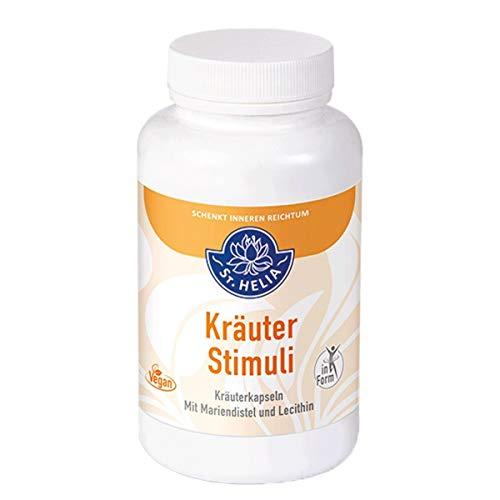 Kräuter Stimuli - Mariendistel und Lecithin Kräuterkapseln, vegan, Dose à 84 g, 180 Kapseln