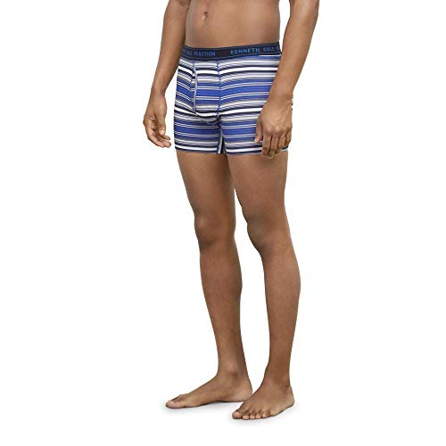 Kenneth Cole Reaction Men's Stripe Knit Boxer 3-Pack with Cotton Stretch