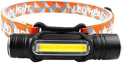 Linterna frontal Batería de iones de litio incorporada Linterna frontal LED con zoom Linterna con zoom Linterna de policía Faros de pesca al aire libre Luces de camping