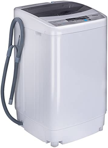 Giantex Portable Compact Full-Automatic Washing Machine 1.6 Cu.ft/10 lbs Laundry Washer Spin with Drain Pump