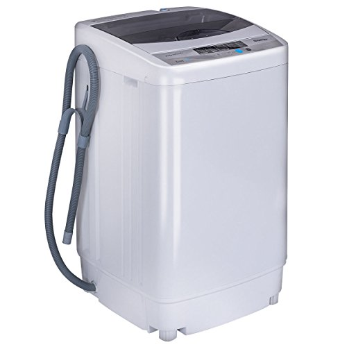Giantex Portable Compact Full-Automatic Washing Machine 1.6 Cu.ft/10 lbs Laundry Washer Spin with Drain Pump (Machine Laundry)