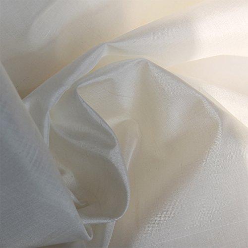 White Taffeta - Pure SILK TAFFETA Off White color 58