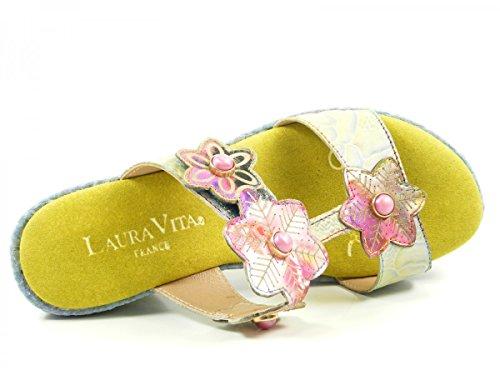 Laura Vita SL3036-4A Beaute 04 Zuecos fashion de cuero mujer Gelb