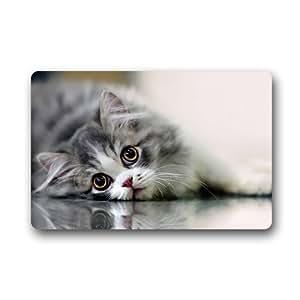 "Beautiful Cat Customized Outdoor and Indoor Art Printing Door Mat 25.6""x 15.7"""