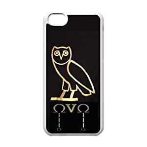 iPhone 5c Cell Phone Case White Drake Ovo Owl WPD Design Phone Case