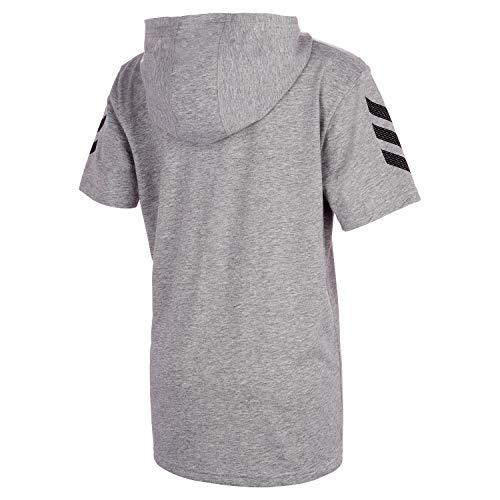 adidas Boys' Big Short Sleeve Hooded T-Shirt 2