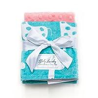 Baby Laundry Patterned Burping Cloth for Boys Girls, Set of 2 - Giraffe Topaz...