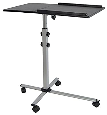 VIVO Projector & Laptop Adjustable Trolley Presentation Cart / Mobile Projection Stand (CART-V01L)
