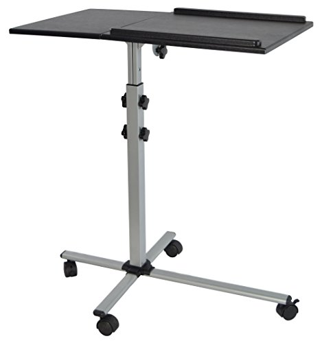 VIVO Projector & Laptop Adjustable Trolley Presentation Cart / Mobile Projection Stand (Mobile Overhead Projector Table)