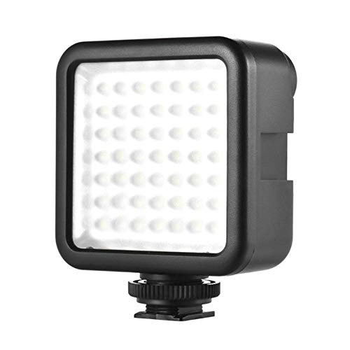 Super Bright 49pcs LED Panel Beads Lamp Suitable for Wedding Photography Lamp Camera News Interview Flash Fill 6000K naturaLight ()