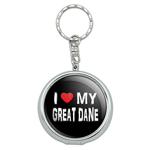 Graphics and More Portable Travel Size Pocket Purse Ashtray Keychain I Love My Dog E-K - Great Dane Stylish (Ash Tray Key Chain)
