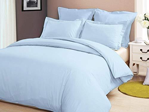 (Kanak Bedding Genuine Premium Egyptian Cotton 800 Thread Count 7-Piece Sheet Set with Duvet Set Solid Full Size Sky Blue Color)