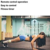 BTBSIGN LED Interval Timer Fitness Gym Timers Count Down/Up Stopwatch with Remote