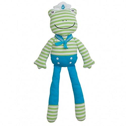 Organic Farm Buddies Plush Toy - Skippy Frog, 14 inches