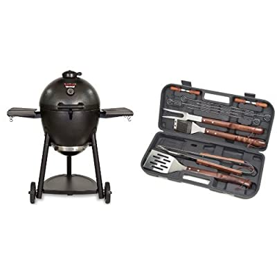 Char-Griller Kamado Kooker Charcoal Barbecue Grill and Smoker by Char-Griller