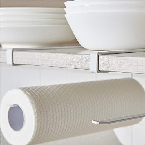 Bathroom Fixtures 2pcs Paper Towel Holder Dispenser Under Cabinet Paper Roll Holder Rack Without Drilling For Kitchen Bathroom