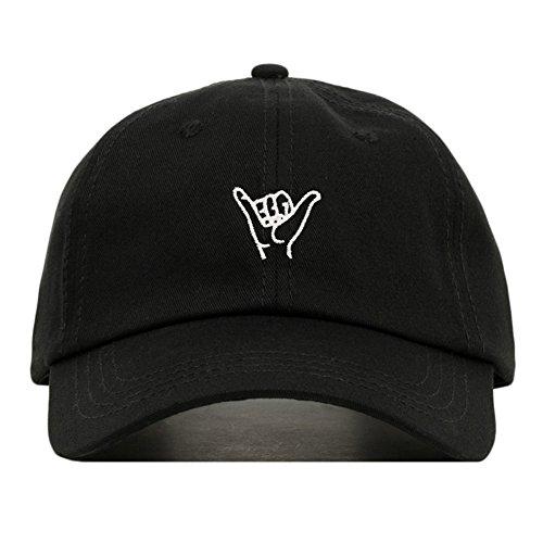 Hang Loose Baseball Hat, Embroidered Dad Cap, Unstructured Soft Cotton, Adjustable Strap Back (Multiple Colors)