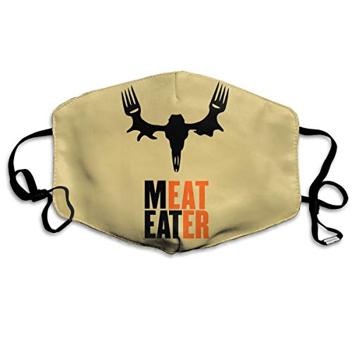 Custom Anti-Dust Mouth Mask Meat Eater Reusable Outdoor Face Mask with Adjustable Earloops Breathable Mouth Cover for Teens Men (Mask Meat Eater Mask)