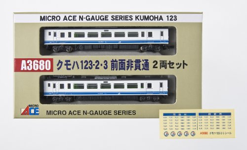 Kumoha 123-2 & 3 No Top Part Passage (2-Car Set) (Model Train)