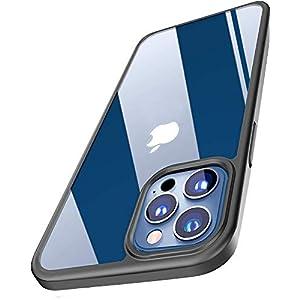 Amozo Autofocus Back Case Cover Compatible for iPhone 12 and Compatible for iPhone12 Pro (Soft|TPU|Black)