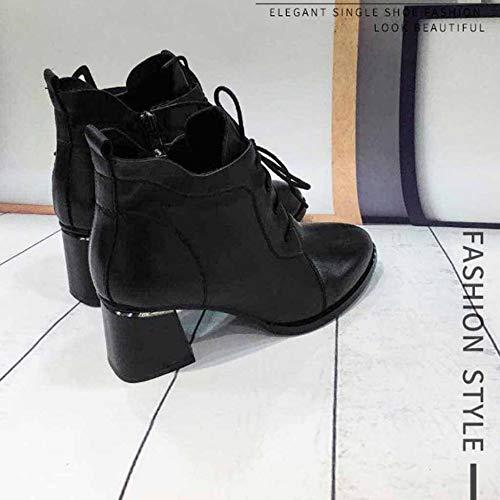Winter Nero pizzo nere con Carréépais Scarpe Utility Ladies di Martin Fall And Highlighted lavoro da stivali antiscivolo Rw0wxaHWB