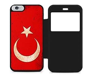 Turquía Türkiye Turkey Bandera Flag iPhone 6negro flip plegable Carcasa Negro Funda Negro Cover Case Carcasa