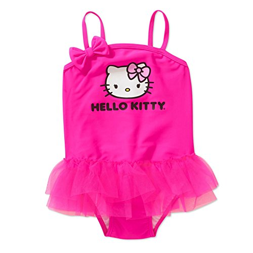 Hello Kitty One Piece Bathing Suit For Baby and Toddler Girls (12M)