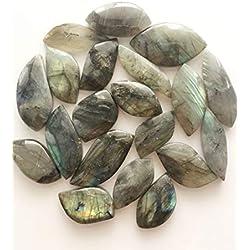 JIC Gem 20 Pcs Gemstone Labradorite Freeform Cab Pendant Jewelry from Madagascar