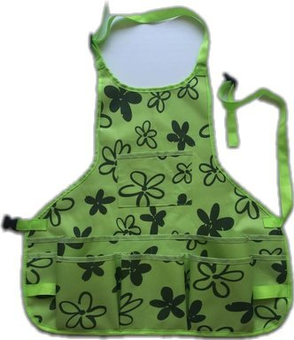 Ez4garden Heavy Duty Waterproof Garden Tool Apron Multifunction Oxford Canvas Work Apron with 14Pockets and Adjustable Belt, Green 24.8-Inchx23.6-Inch by Ez4garden