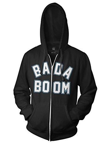 Attitude Zip Hoodie (Ripple Junction WWE Bada Boom Adult Zip Hoodie Large Black)