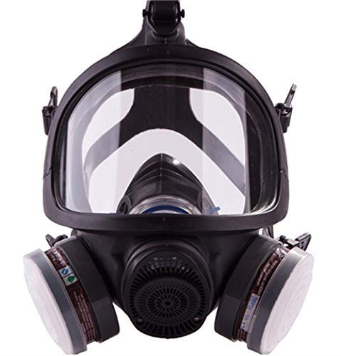 SCK Full Face Organic Vapor Respirator Professional Mask Widely Used in Paint, Dust, Chemical Protections (Black) by SCK