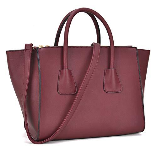 Dasein Women Winged Handbags Designer Shoulder Bag Structured Tote Satchel Purses by Dasein (Image #7)