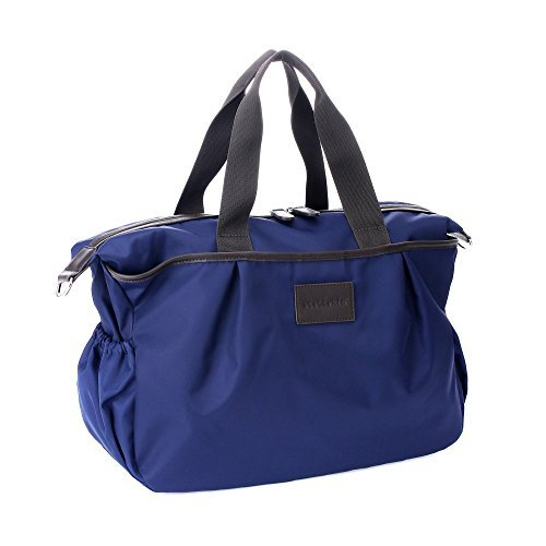Stellakim by Perry Mackin Olivia Water Resistant Nylon Diaper Tote, Navy by Perry Mackin by Perry Mackin