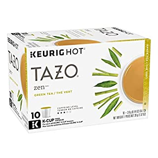 Tazo Zen K-Cup Pods For a Calming Tea Green Tea Moderately Caffeinated Morning Drink 10 K-Cup Pods, Pack 6