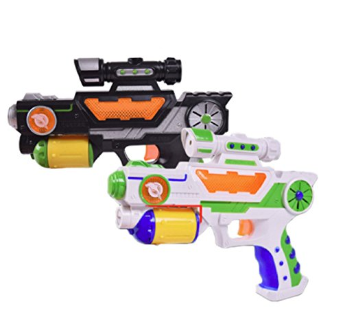 HOT!!! Outdoor Game Toy Gun Electric Luminous Flash Light Music Eight Kinds of Image Voice Projection Gun Boys Like Gift Toy Guns Random Color