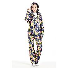 Rainfly Women's Camo Travel Raincoat Rain Jacket Pant Suit