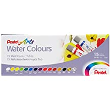 Pentel Arts Water Colours, Set of 15