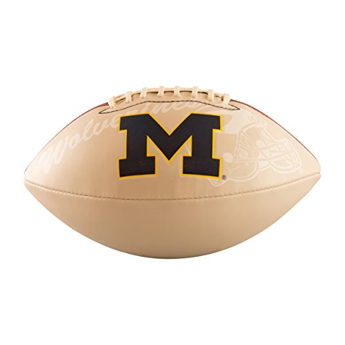 Michigan Wolverines Official Size Synthetic Leather Autograph Football