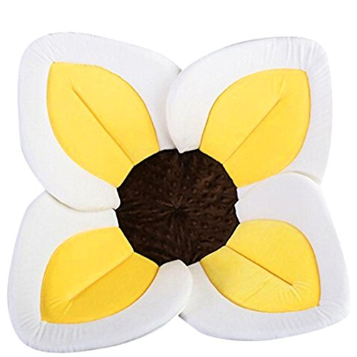 Badewanne Baby,Hunpta Blühende Bad-Blumen-Badewanne für Baby-blühende Wanne Bad für Baby Säugling Lotus Gelb