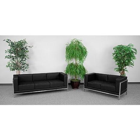 Amazon.com: 2pc Conjunto moderno sofá de recepción de ...