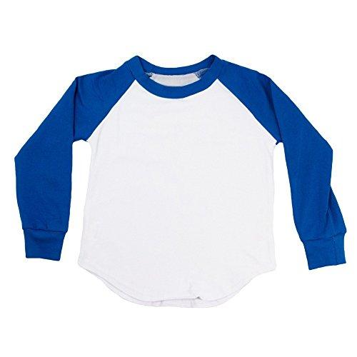 (Dress Up Dreams Boutique Unisex Baby Royal Blue Two Tone Long Sleeve Raglan Baseball T-Shirt 12-18M)