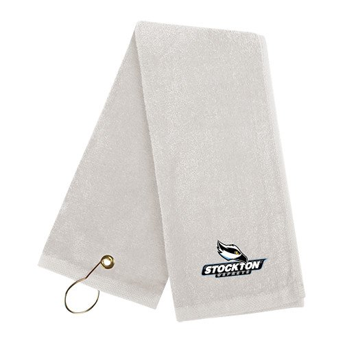 Stockton White Golf Towel 'Official Logo' by CollegeFanGear