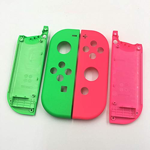 Full Housing Faceplate Shell Case Cover Replacement Part for Nintendo Switch NS NX Joy-Con Controller Left Green Right Pink