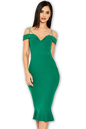 efaabada9d946 AX Paris Women's Off The Shoulder Strappy Fishtail Dress at Amazon ...