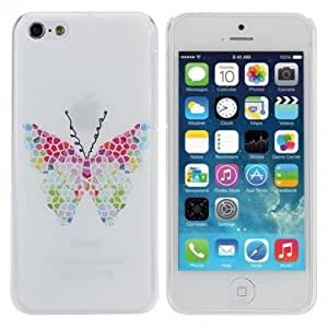 Butterfly Design Plastics Hard Back Case Cover For iPhone 5C