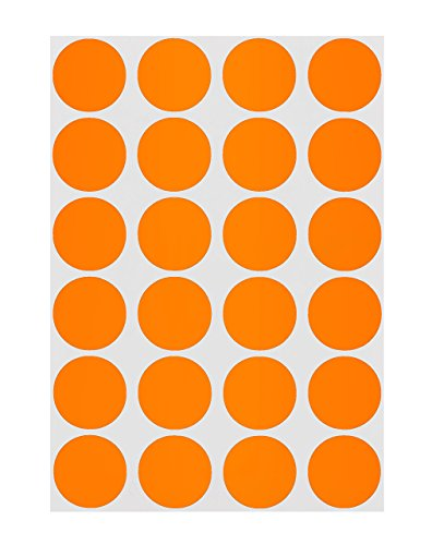 (ChromaLabel 3/4 inch Color-Code Dot Labels on Sheets | 1,008/Pack)